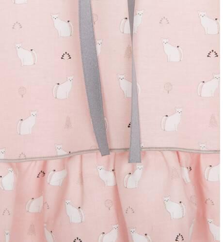 Vestido niña rosa gatitos de Rochy   Aiana Larocca