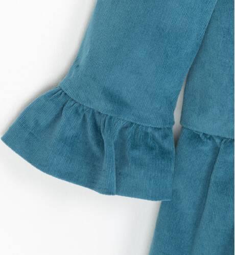 Vestido niña micropana azul pato de Nekenia | Aiana Larocca