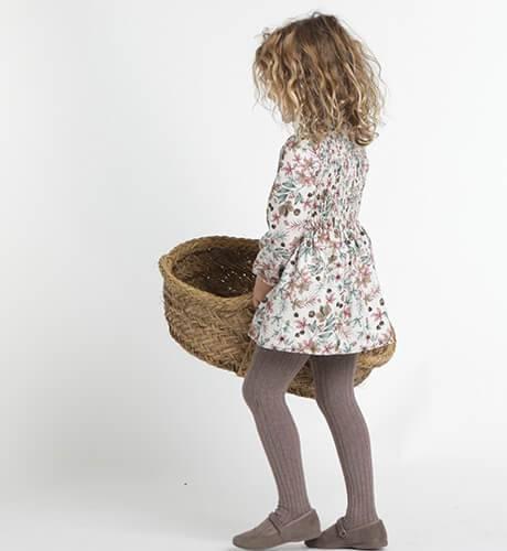Vestido niña estampado flores de Ancar | Aiana Larocca
