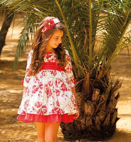 Vestido estampado floral rojo & escote DBB Collection | Aiana Larocca