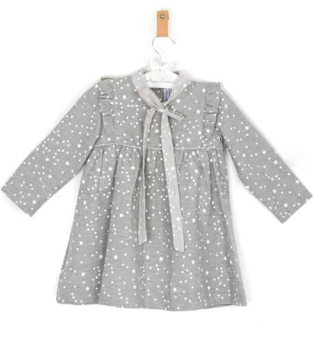 Vestido niña estrellitas gris de Ancar | Aiana Larocca