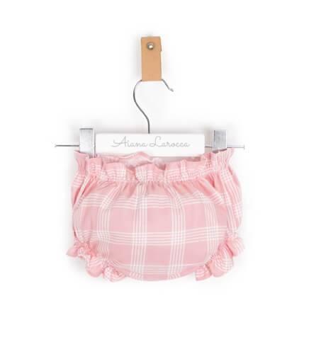 Conjunto bombacho rosa camisa blanca y jersey | Aiana Larocca