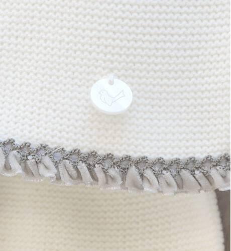 Conjunto pelele crudo puntilla gris de Punto Solita | Aiana Larocca