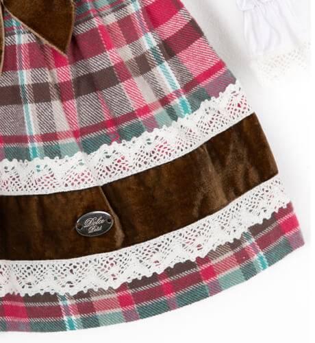 Vestido tartán fresa de Dolce Petit   Aiana Larocca