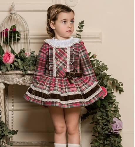 Vestido tartán fresa de Dolce Petit | Aiana Larocca