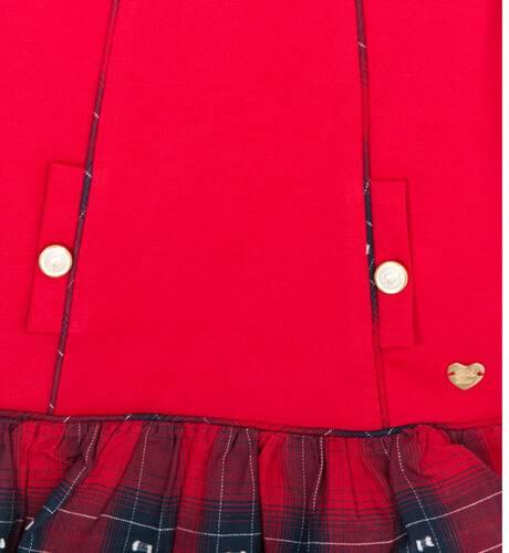 Vestido rojo volantes a cuadros de Dolce Petit   Aiana Larocca