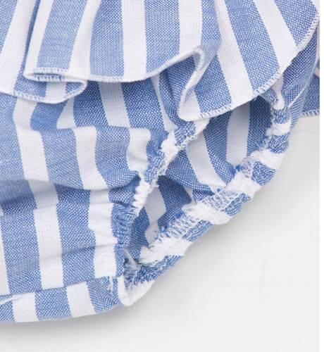 Braguita a rayas azul lazo rojo de Baby Yiro | Aiana Larocca