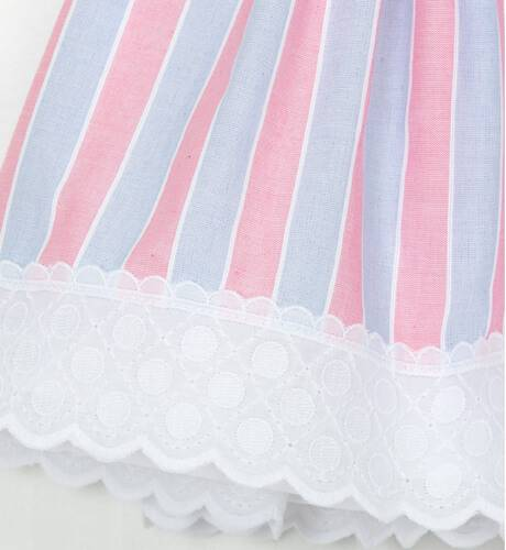 Vestido a rayas azul y rosa de Dolce Petit | Aiana Larocca