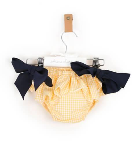 Braguita vichy amarillo lazo marino de Baby Yiro | Aiana Larocca