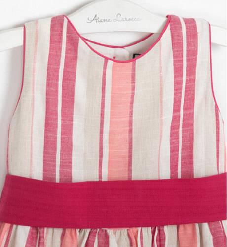 Vestido a rayas rosa espalda abierta de Nekenia   Aiana Larocca