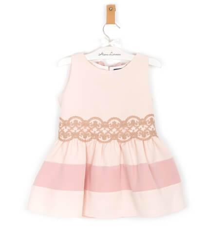 Vestido rosa pastel con fajín y escote espalda de Nekenia | Aiana Larocca