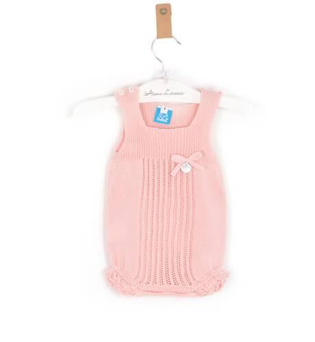 Body bebé punto rosa de Punto Solita | Aiana Larocca