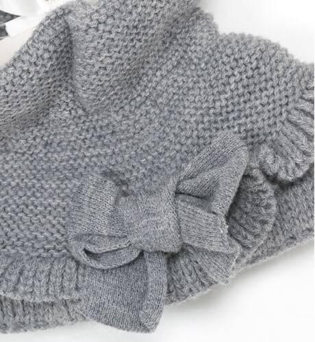 Cuello punto gris con lazo de César Blanco | Aiana Larocca