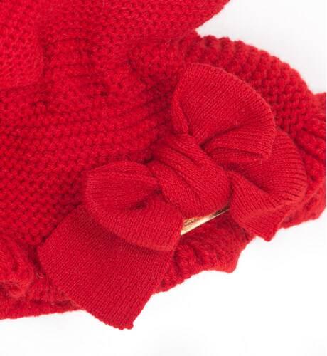 Cuello punto rojo con lazo de César Blanco | Aiana Larocca