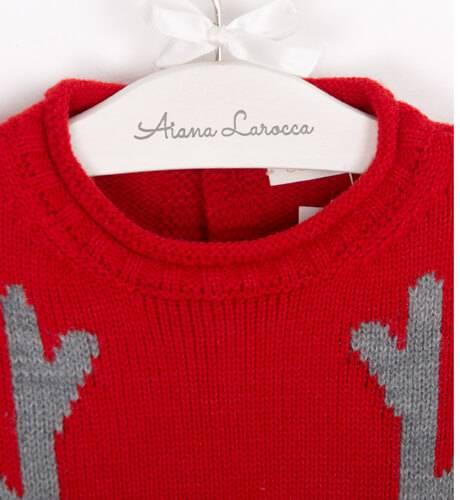 Jersey unisex rojo reno de César Blanco | Aiana Larocca