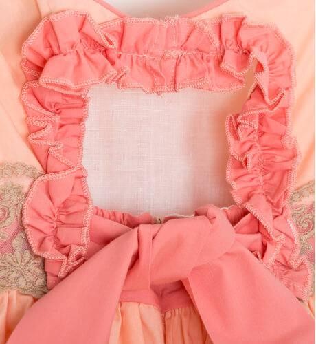 Vestido niña coral espalda abierta de Nekenia | Aiana Larocca