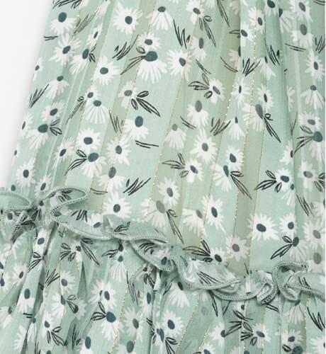 Vestido escotado estampado verde de Nekenia   Aiana Larocca