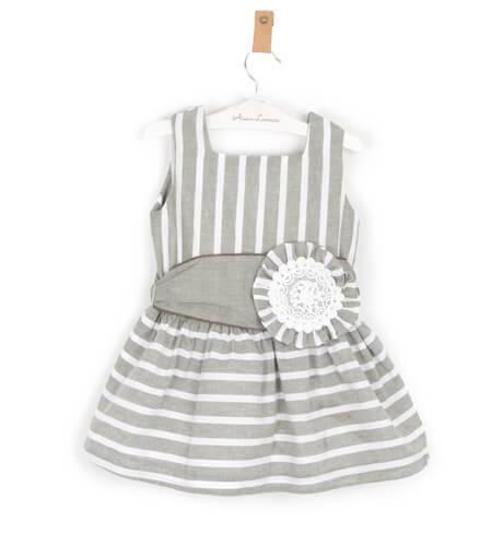 Vestido niña a rayas lazada de Rochy | Aiana Larocca