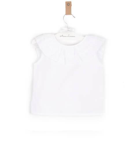 Blusa blanca volante escote espalda Baby Yiro | Aiana Larocca