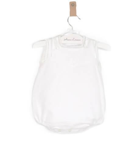 Ranita bebé lino bordado color crudo de Foque | Aiana Larocca