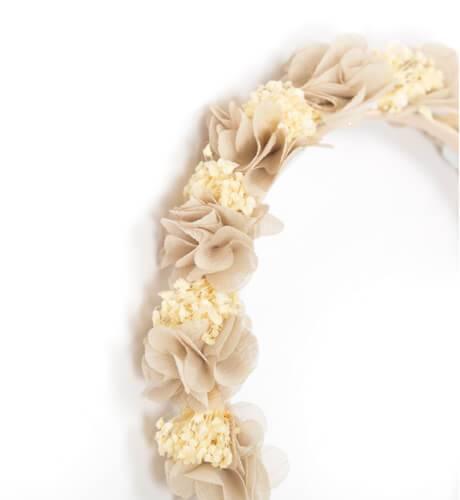 Diadema flores avellana de Siena | Aiana Larocca