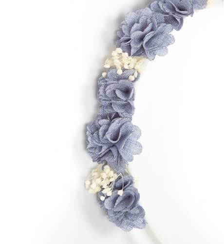 Diadema flores gris de Siena | Aiana Larocca