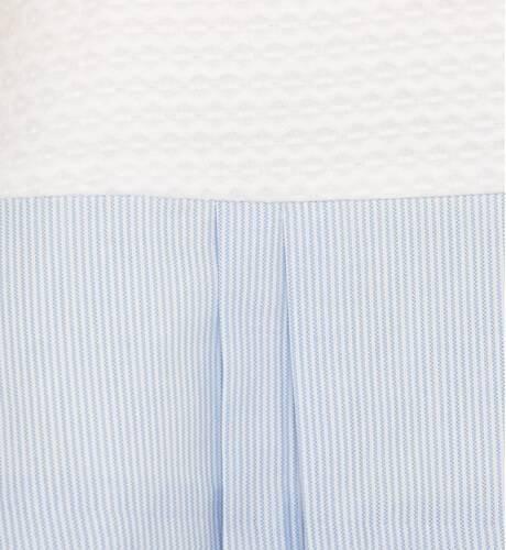 Vestido bebé marinero piqué blanco de Yoedu | Aiana Larocca