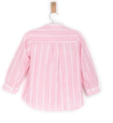 Camisa niño a rayas rosa y blanco de Ancar   Aiana Larocca