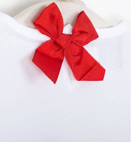 Conjunto bebé camiseta y braguita labios rojo de Mon Petit Bonbón | Aiana Larocca