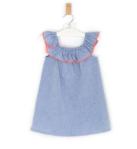 Vestido niña azul denim de Foque | Aiana Larocca