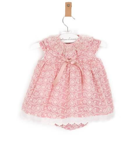 -NUEVO- Jesusito bebé encaje bordado rosa de Valentina Bebés | Aiana Larocca