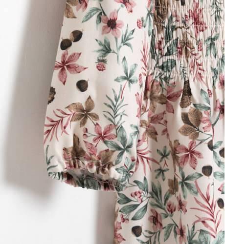 Vestido niña estampado flores de Ancar   Aiana Larocca