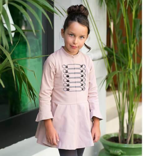 Vestido niña rosa circo de Rochy | Aiana Larocca