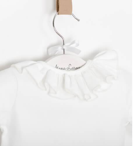 Blusa punto camiseta cuello volante de Baby Yiro | Aiana Larocca