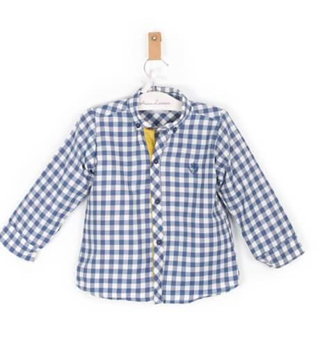 Camisa niño vichy azul de Rochy | Aiana Larocca