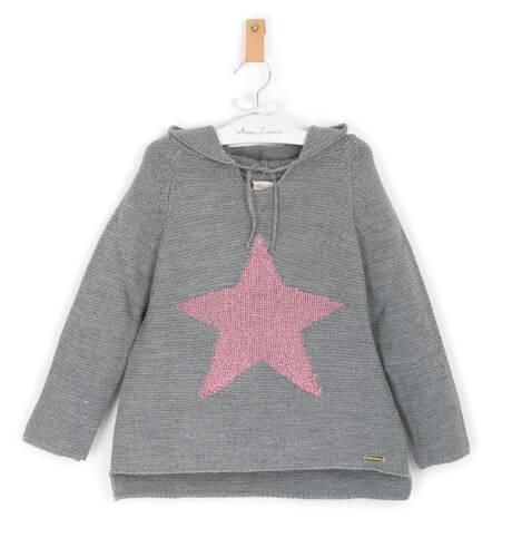 Jersey punto gris con estrella de César Blanco | Aiana Larocca