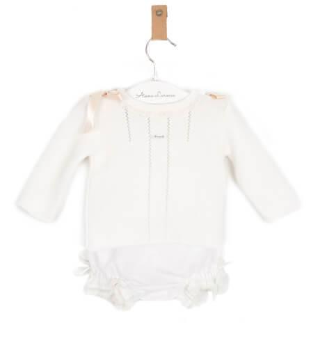 -NUEVO- Conjunto bebé braguita lino y jersey lazos de Foque | Aiana Larocca