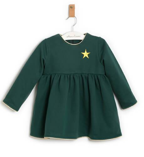 Vestido verde estrella dorada de Mon Petit Bonbon   Aiana Larocca