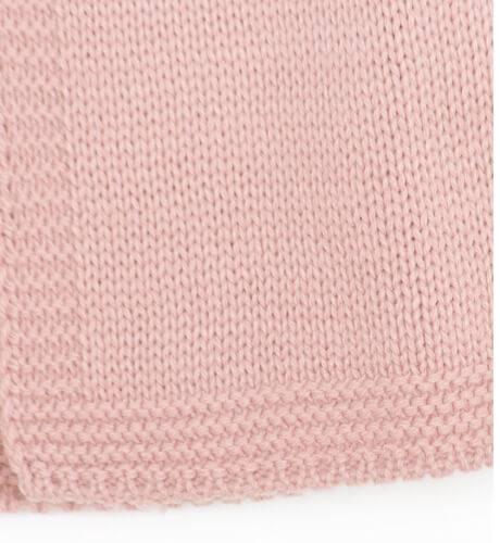 Chaleco de punto rosa | Aiana Larocca
