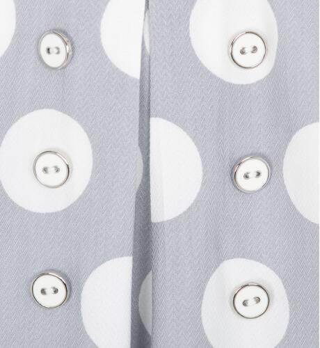 Vestido gris lunares de Dolce Petit | Aiana Larocca