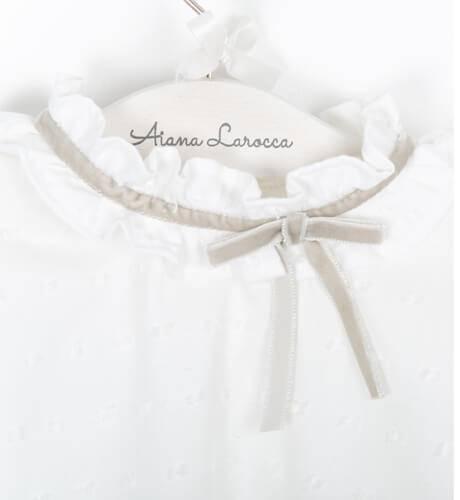 Blusa plumeti blanca de César Blanco | Aiana Larocca