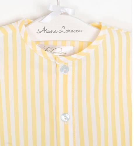 Camisa niño a rayas amarillas de Clemencita | Aiana Larocca