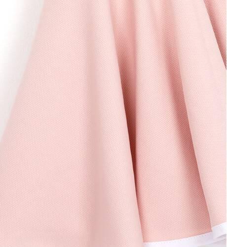 Vestido punto rosa lazo blanco y escote de Nekenia   Aiana Larocca