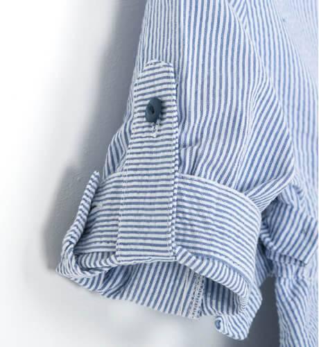 Vestido niña camisero a rayas finas de Blanca Valiente | Aiana Larocca