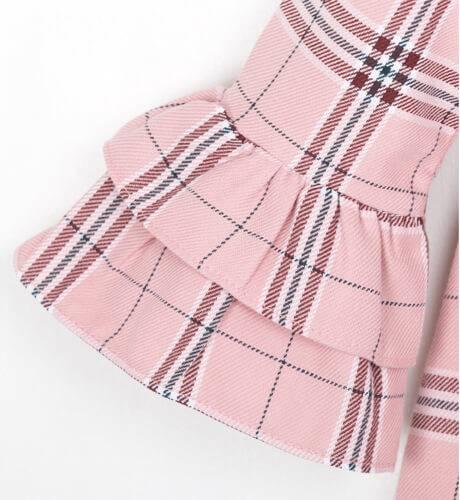 Vestido evasé a cuadros rosa de Blanca Valiente | Aiana Larocca