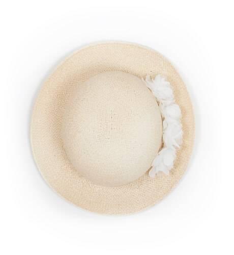 Sombrero flor blanca de Siena | Aiana Larocca