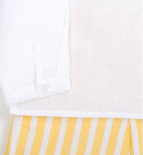 Conjunto niño a rayas amarillas de Blanca Valiente   Aiana Larocca