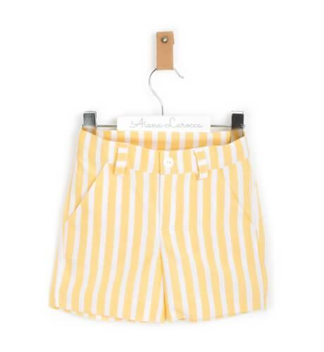 Conjunto niño a rayas amarillas de Blanca Valiente | Aiana Larocca