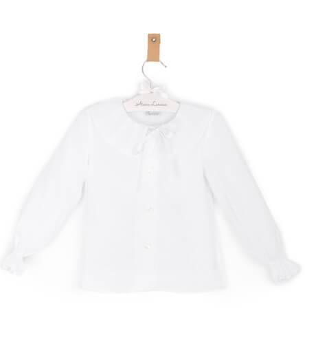 Camisa niña plumeti blanco de Ancar | Aiana Larocca