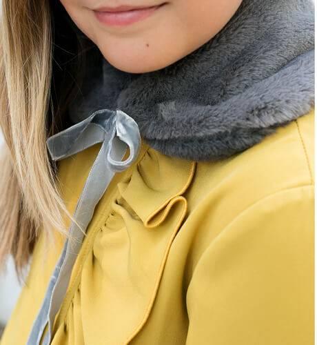 Cuello pelo color gris Eve Children | Aiana Larocca